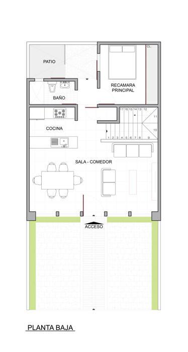 CASA TAR: Pasillos y recibidores de estilo  por ODRACIR