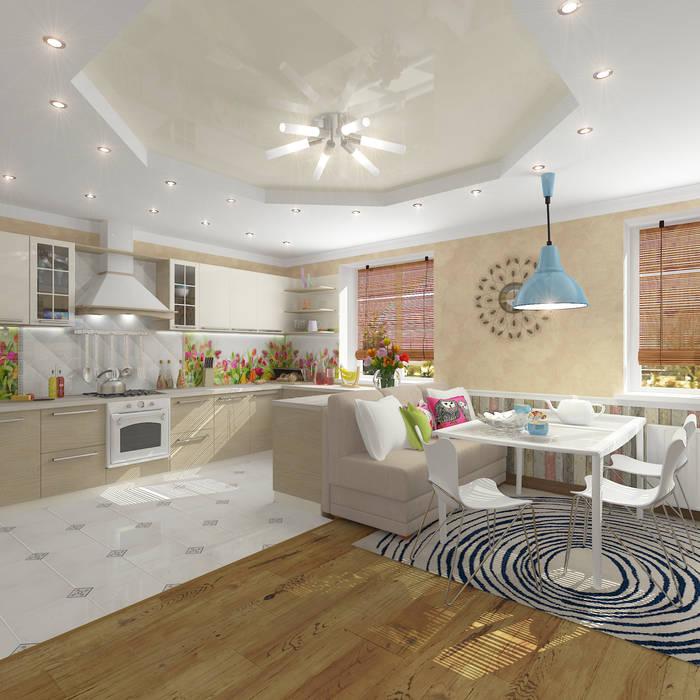 Living room by Design Rules, Mediterranean