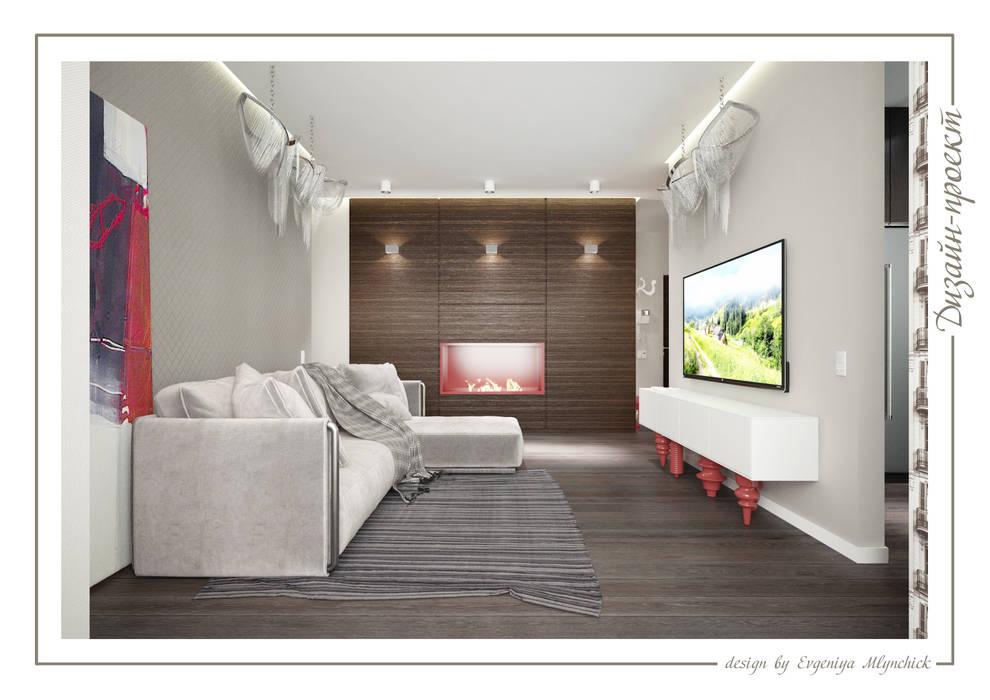 Аквамарин: Гостиная в . Автор – mlynchyk interiors , Эклектичный