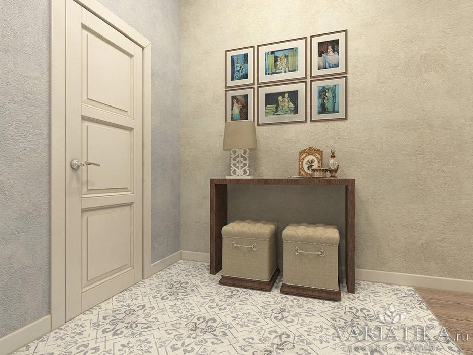ЖК Вешняки - 100 м² Коридор, прихожая и лестница в эклектичном стиле от variatika Эклектичный
