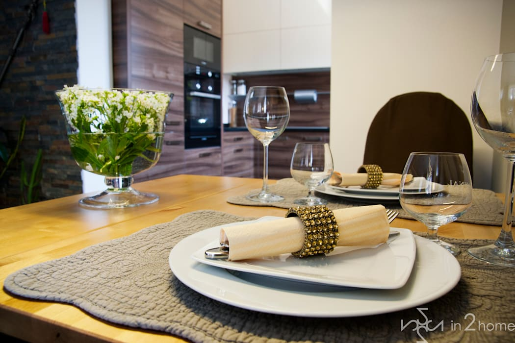 Stylowa jadalnia: styl , w kategorii Jadalnia zaprojektowany przez in2home