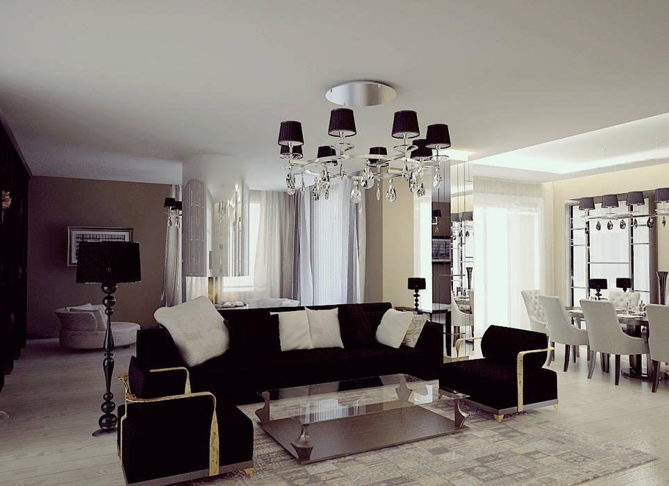 Grand Villa Shtantke Interior Design Klasyczny salon