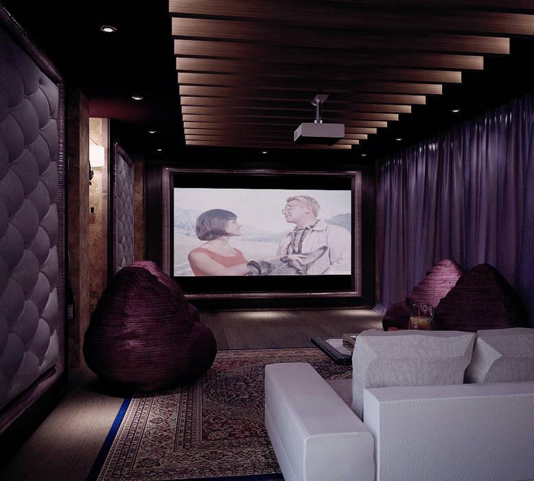 Grand Villa Shtantke Interior Design Klasyczny pokój multimedialny
