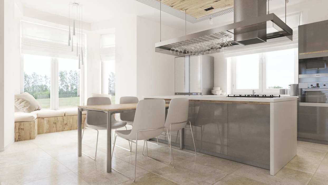 Minimalist kitchen by homify Minimalist Wood Wood effect