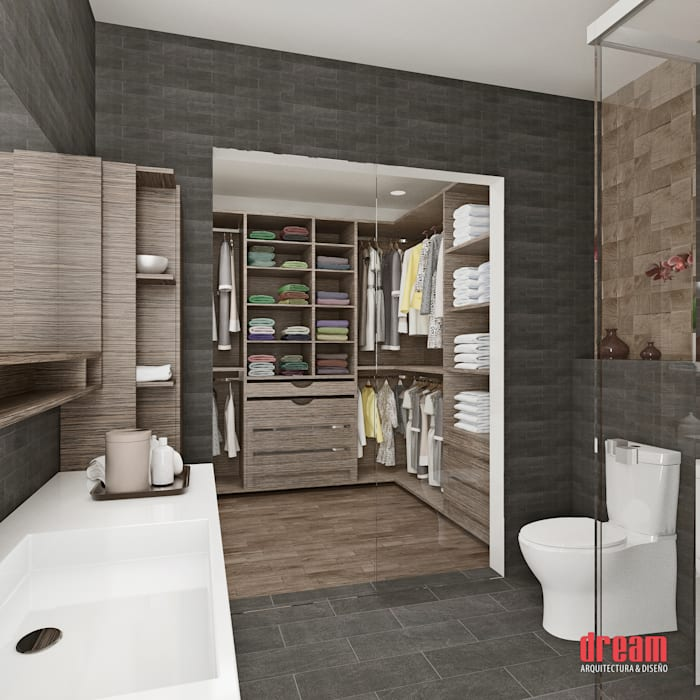 Vista Interior -Cuarto de baño Baños de estilo moderno de Estudio Meraki Moderno