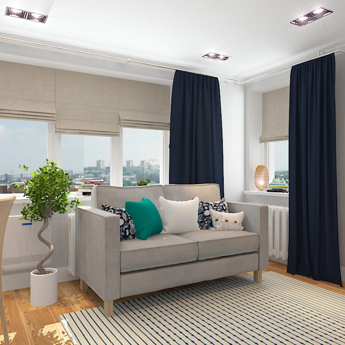 Ruang Keluarga Gaya Mediteran Oleh Design Rules Mediteran