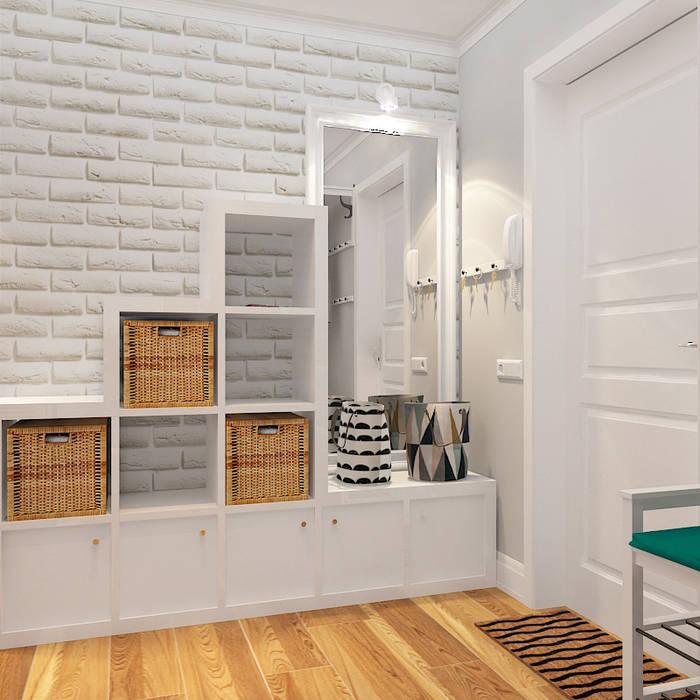 Трехкомнатная квартира Design Rules Коридор, прихожая и лестница в средиземноморском стиле