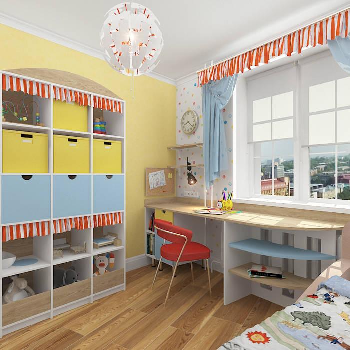 Трехкомнатная квартира Детская комнатa в средиземноморском стиле от Design Rules Средиземноморский