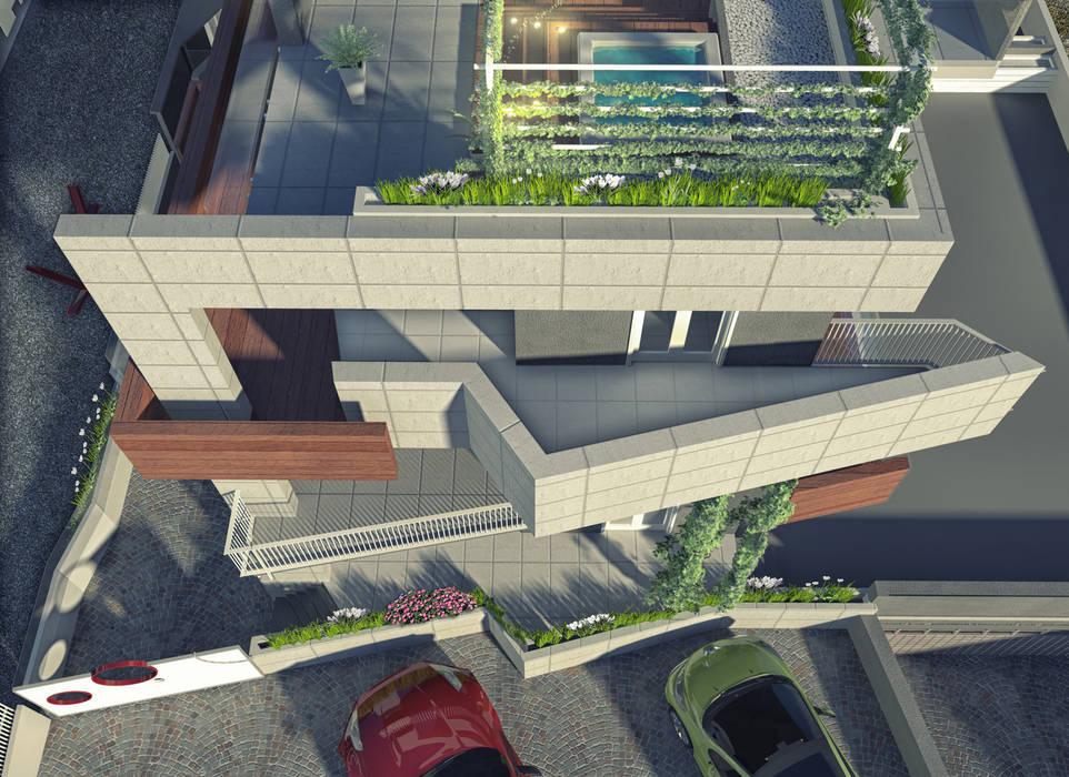 a5studio Balcon, Veranda & Terrasse modernes