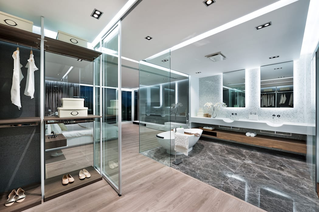 Magazine editorial - House in Sai Kung by Millimeter Millimeter Interior Design Limited Modern bathroom