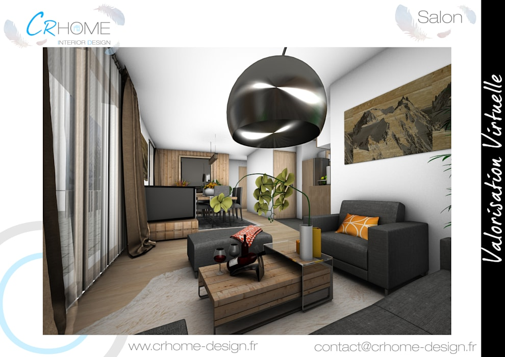 Salon: Salon de style de style Moderne par Crhome Design