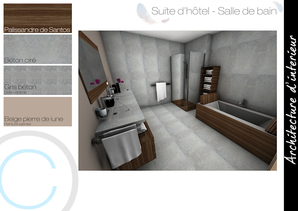 Salle de bain chambre scandinave par crhome design ...