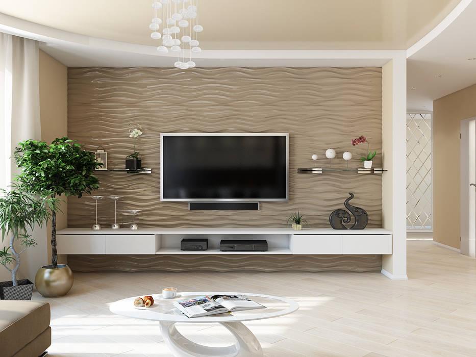 Tatiana Zaitseva Design Studio Minimalist living room