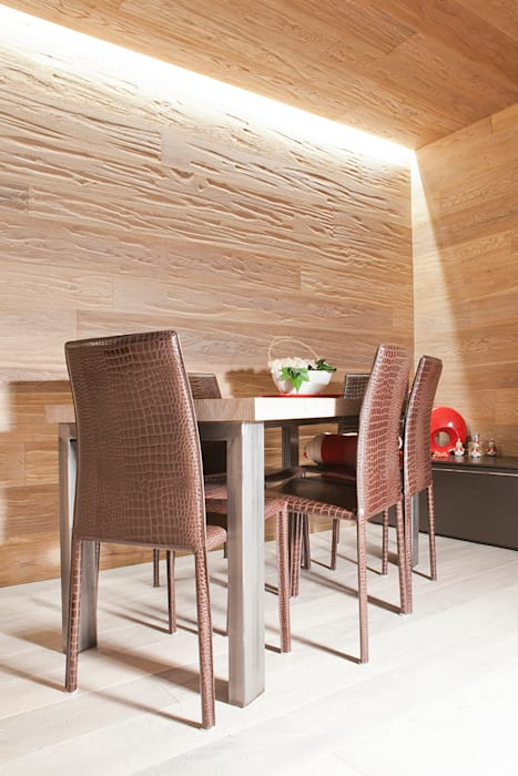 Boiserie in rovere sala da pranzo moderna di semplicemente ...