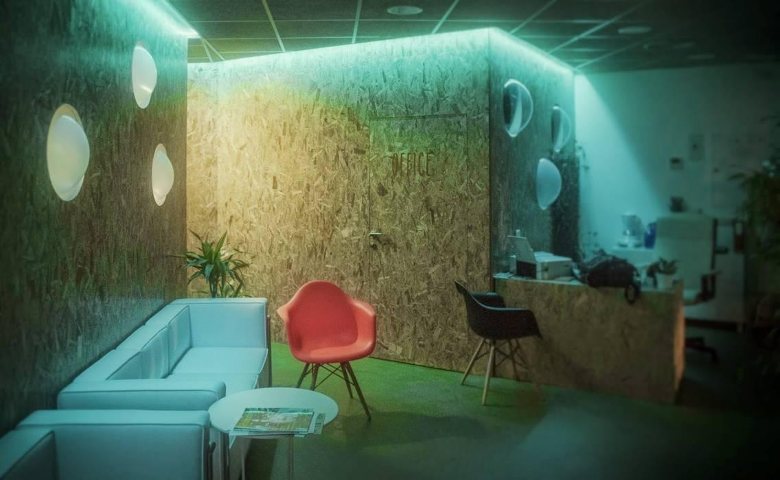 Gimnasio holístico en Alcobendas: Spa de estilo  de anguloarquitectos, Industrial