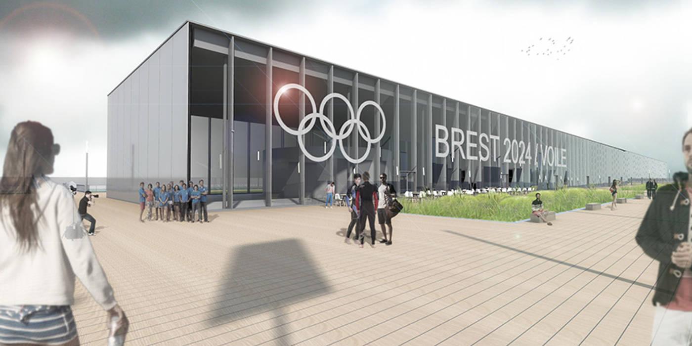 Le village olympique flottant / Glaz house - JO Brest 2024: Yachts & Jets de style  par Trace & Associes architecture