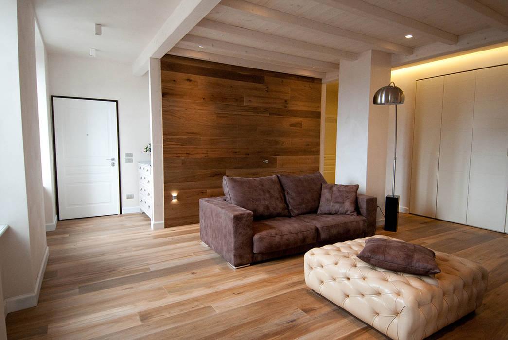 Projekty salon zaprojektowane przez semplicemente legno for Parati economici