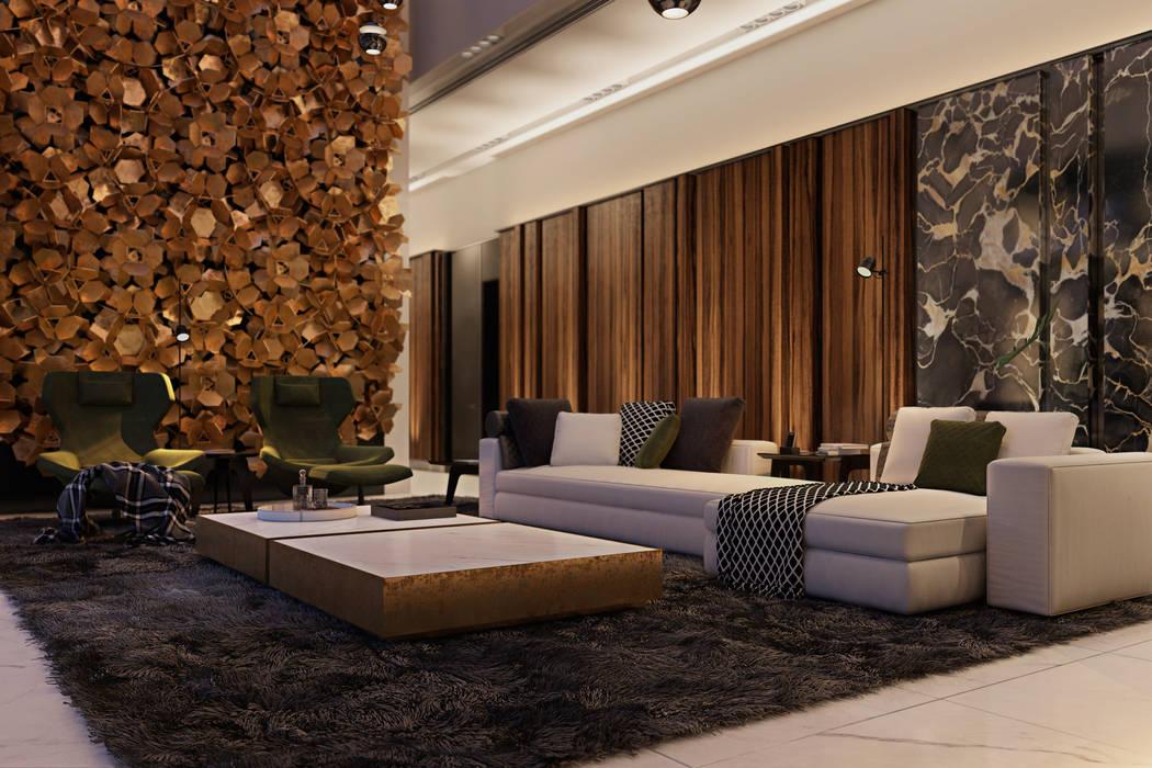 Salas de estilo minimalista de Diff.Studio Minimalista