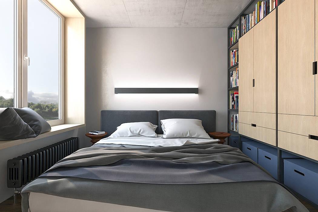 Chambre de style  par Lugerin Architects,