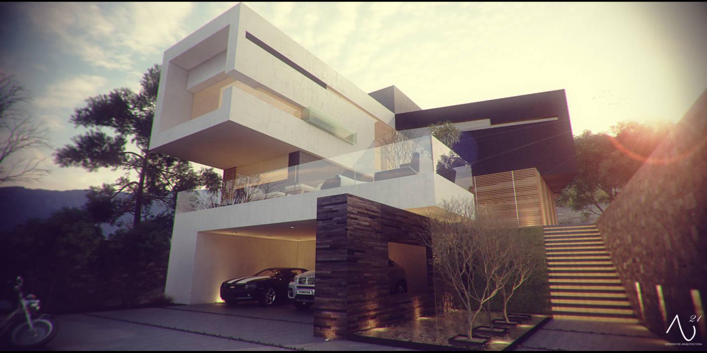 Casas minimalistas por 21arquitectos Minimalista