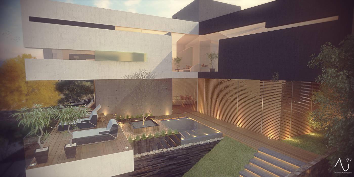 Minimalist house by 21arquitectos Minimalist