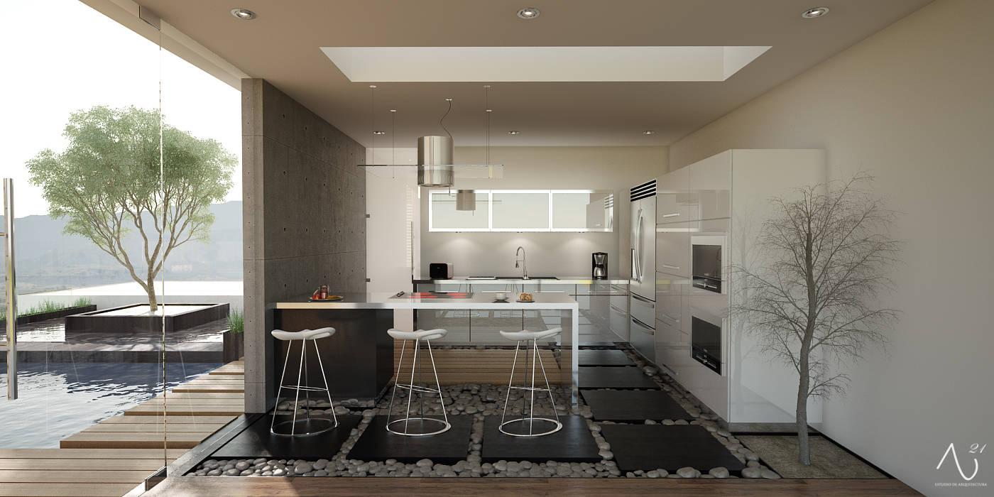 Cocina 21arquitectos Cocinas de estilo minimalista