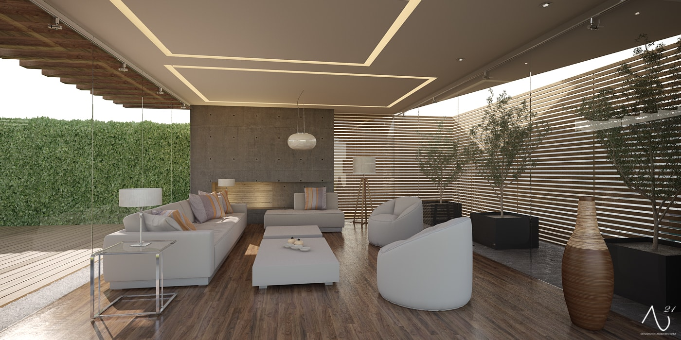 Livings de estilo minimalista de 21arquitectos Minimalista
