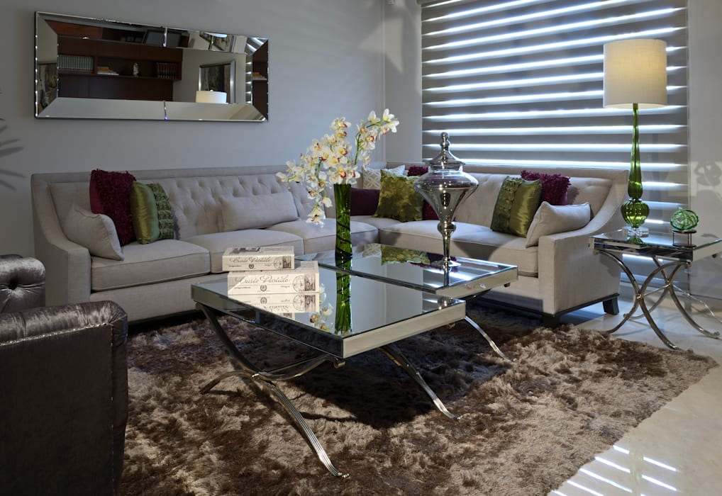 Sala Estudio Casa GL Salones modernos de homify Moderno Textil Ámbar/Dorado