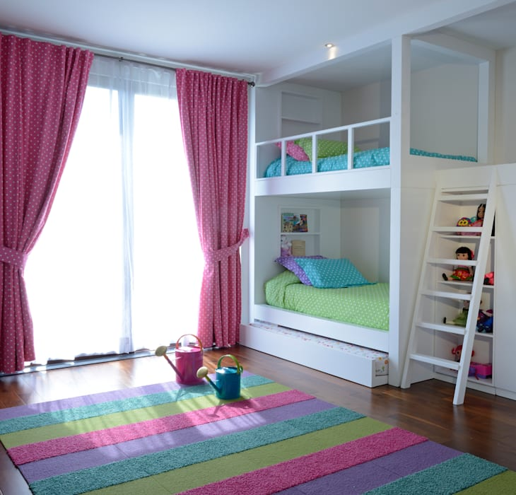 Recamara  Infantil casa GL: Recámaras infantiles de estilo  por VICTORIA PLASENCIA INTERIORISMO
