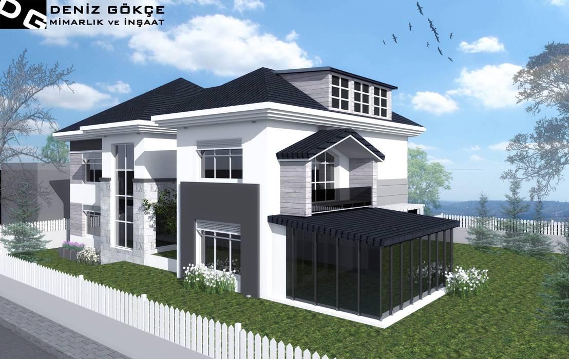 Deniz Gökçe Mimarlık ve İnşaat – Villa Tasarım | Villa Design:  tarz Evler