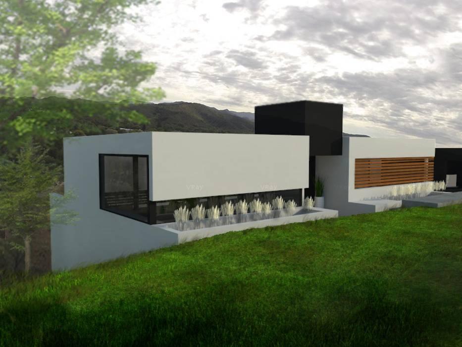 Casa LN Villa Allende (2014) Casas modernas: Ideas, imágenes y decoración de GANDIA ARQUITECTOS Moderno Piedra