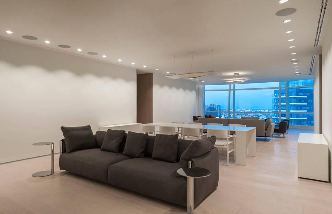 ST. REGIS 2301: Salas multimedia de estilo moderno por TENTER Arquitectura y Diseño