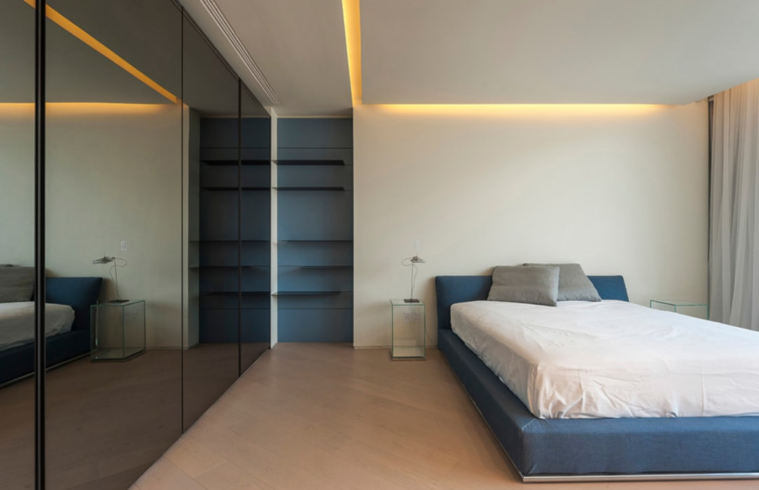 ST. REGIS 2301: Recámaras de estilo moderno por TENTER Arquitectura y Diseño