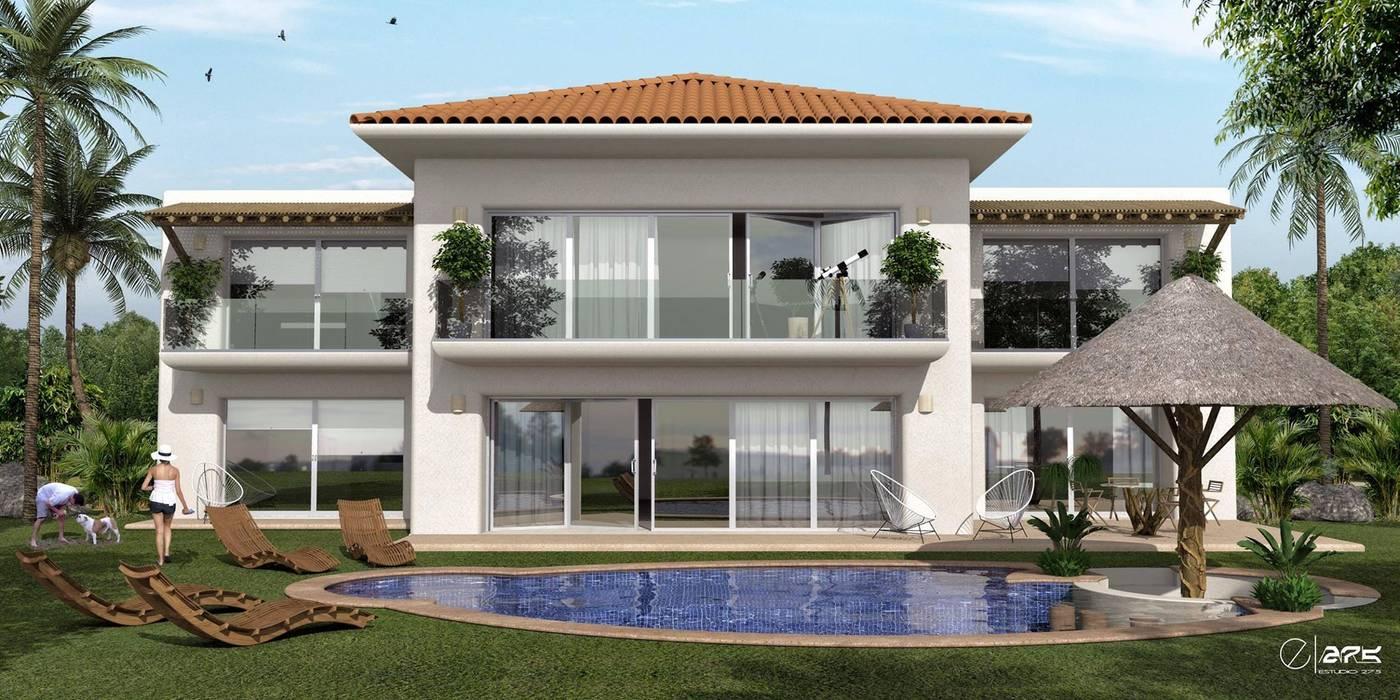 Casas de estilo tropical de ESTUDIO 275 ARQUITECTURA Tropical Aglomerado