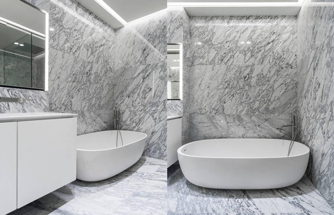 ST. REGIS 2301 Baños modernos de TENTER Arquitectura y Diseño Moderno Mármol
