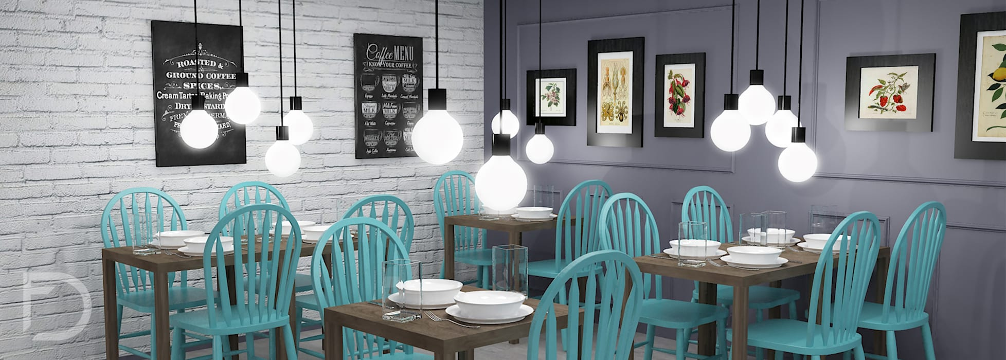 Restaurante.: Restaurantes de estilo  por ESTUDIO FD
