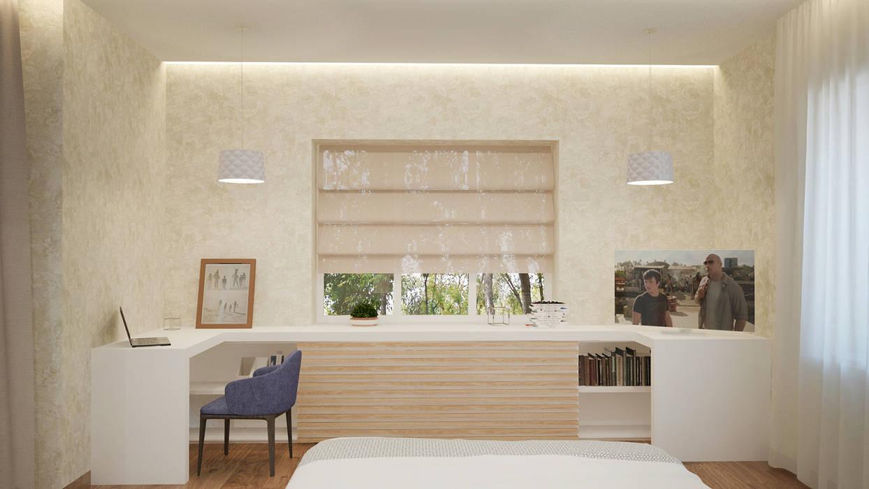 Minimalist bedroom by Архитектурная мастерская 'SOWA' Minimalist