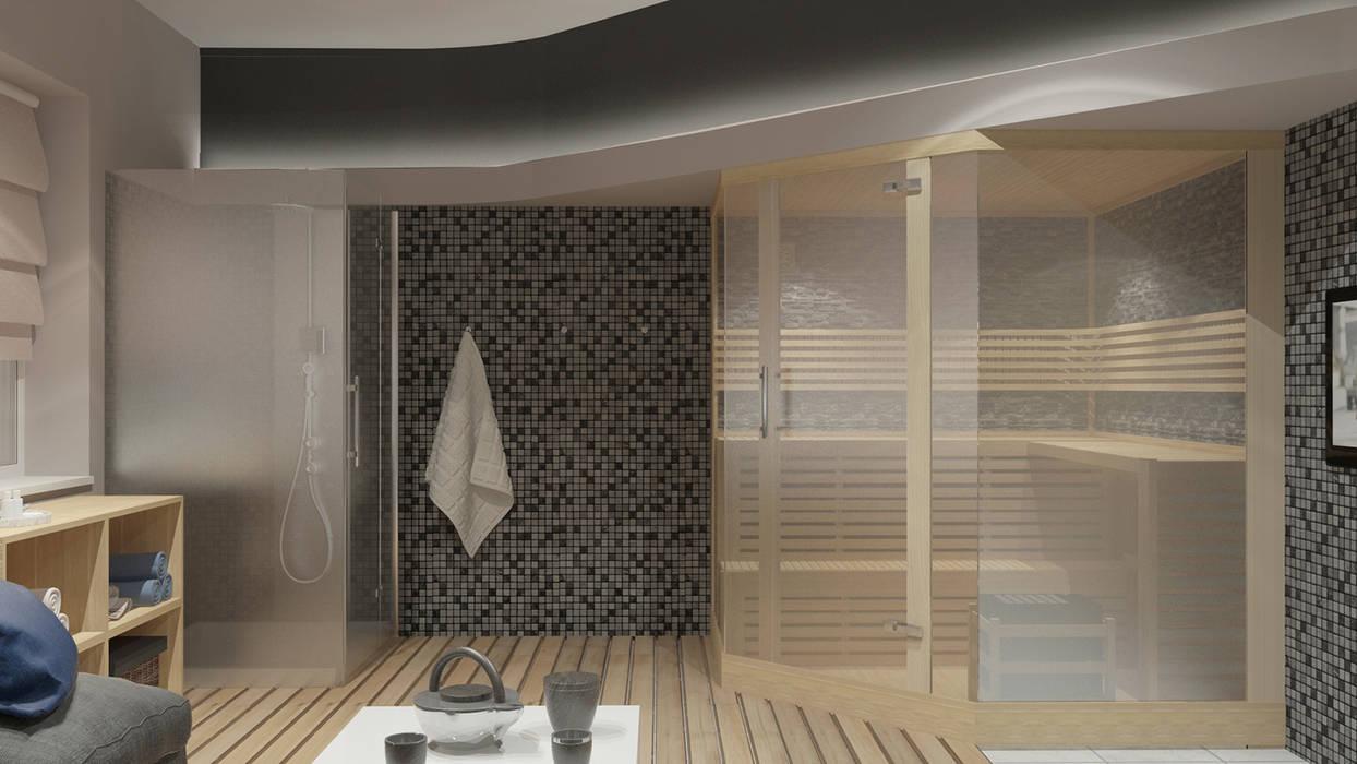 Spa de estilo minimalista de Архитектурная мастерская 'SOWA' Minimalista