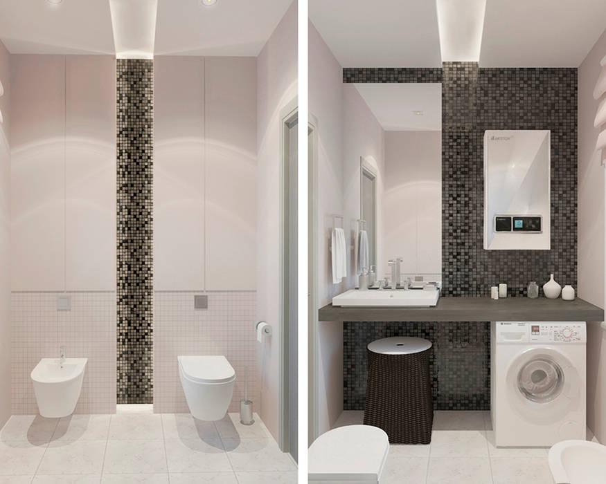 санузел Ванная комната в стиле минимализм от Архитектурная мастерская 'SOWA' Минимализм