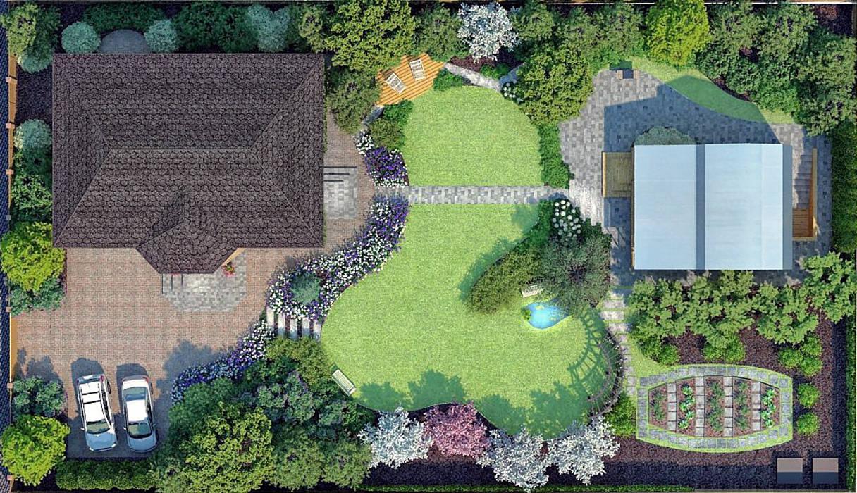 План благоустройства и озеленения территории Сад в стиле кантри от Руслан Михайлов rmgarden Кантри