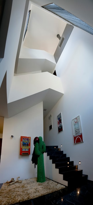 bw1 architekten Modern corridor, hallway & stairs