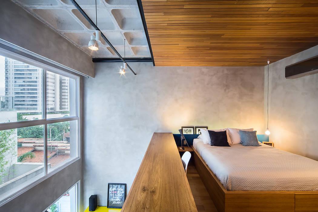 apto cobre/blue Casa100 Arquitetura Quartos modernos
