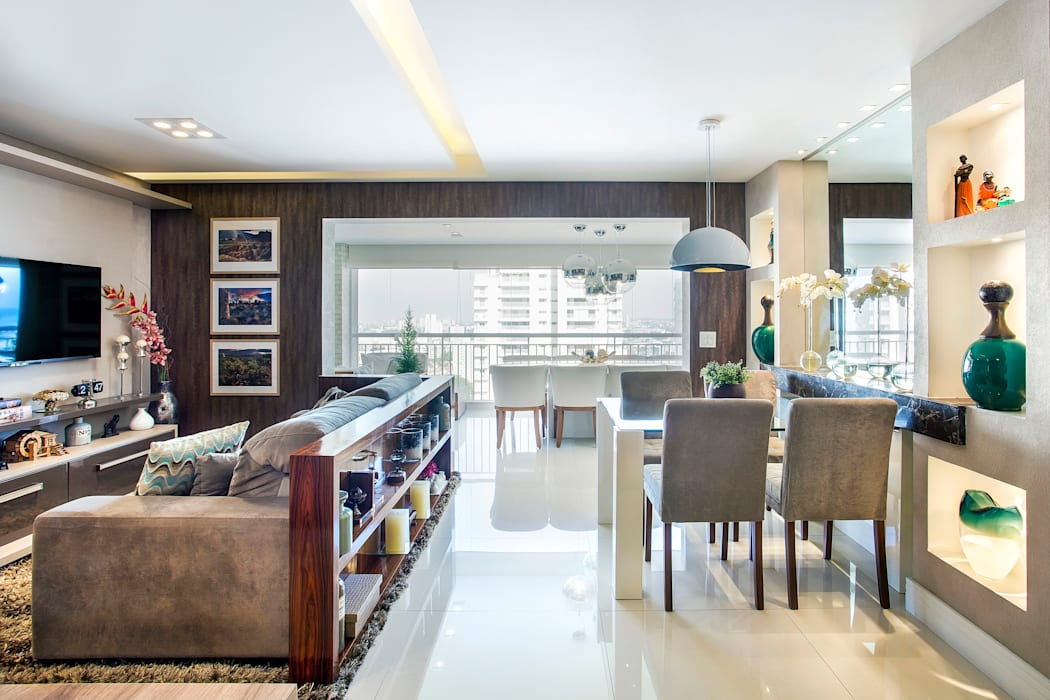 Salas de estilo ecléctico de Adriana Pierantoni Arquitetura & Design Ecléctico
