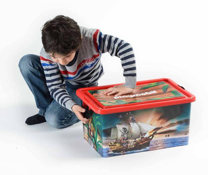 Boite De Rangement 23L + Boite Compartimentée Playmobil PIRATES: Chambre  Du0027enfants De Style