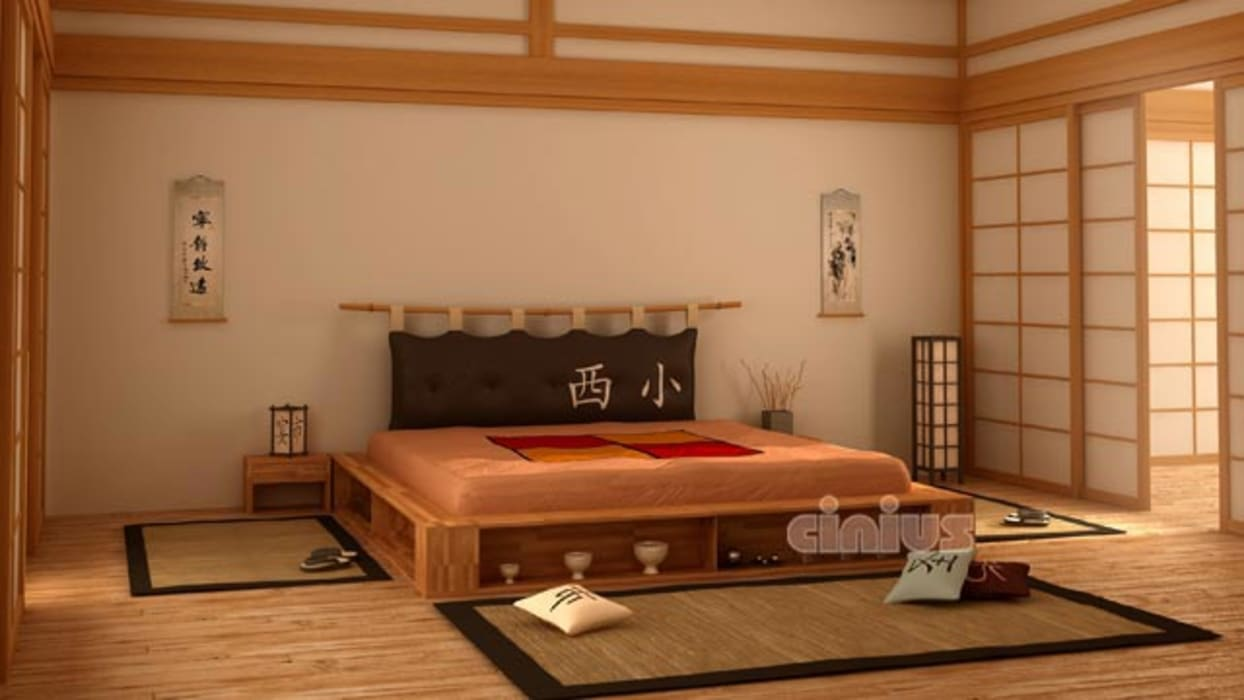 Letto stile giapponese cinius: camera da letto in stile di cinius ...