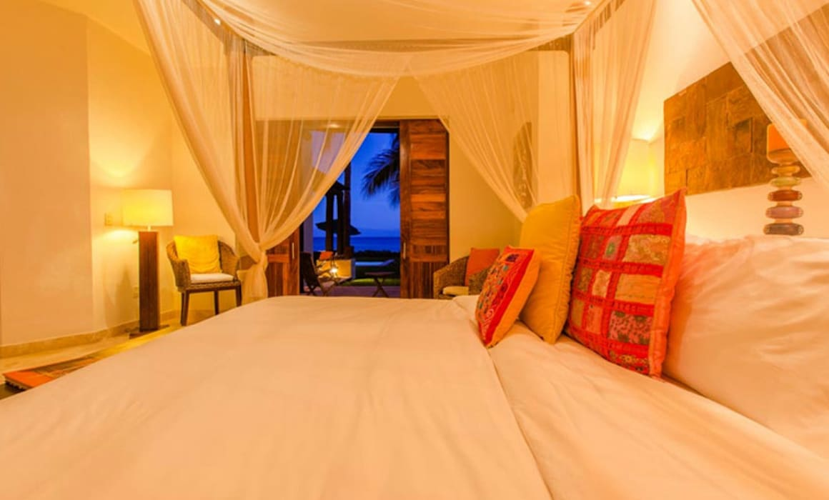 Casa Tortugas: Recámaras de estilo topical por BR  ARQUITECTOS