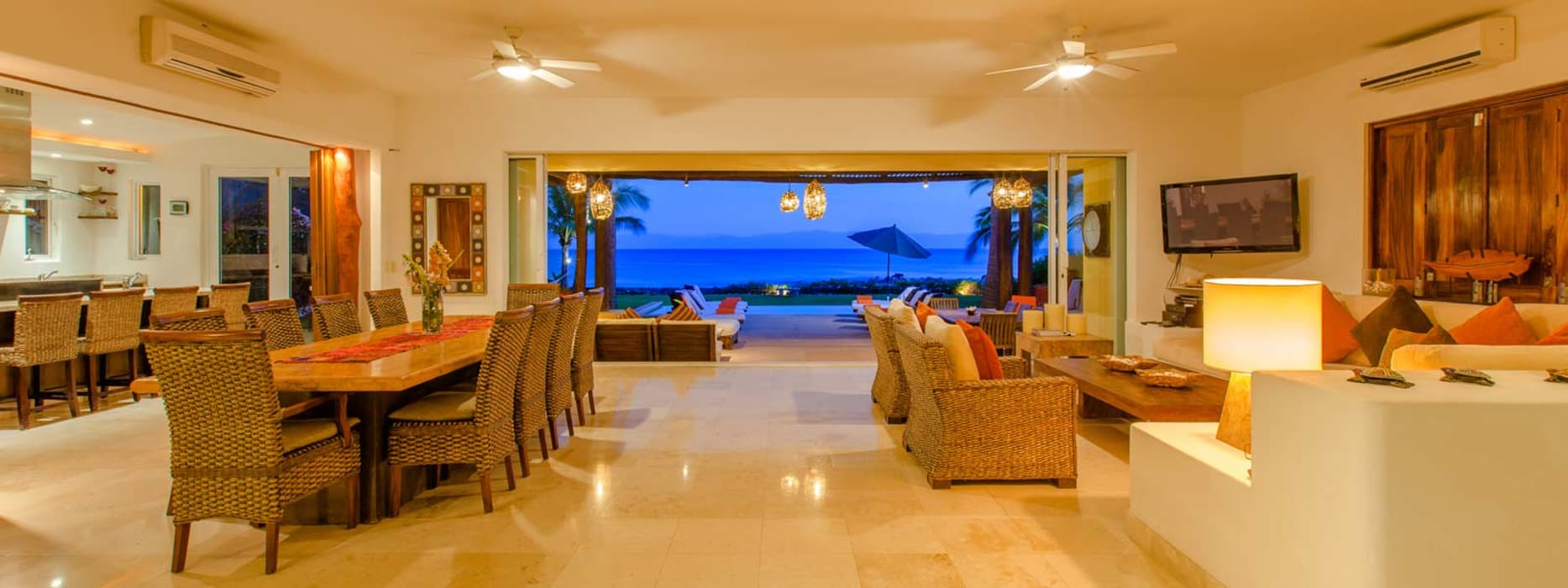 Casa Tortugas: Salas de estilo topical por BR  ARQUITECTOS
