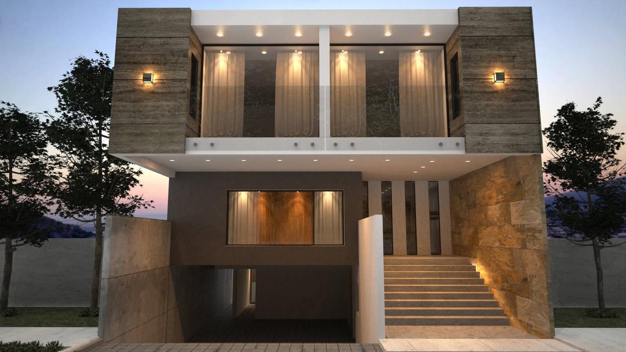 Fachada principal / Oriente Casas estilo moderno: ideas, arquitectura e imágenes de homify Moderno