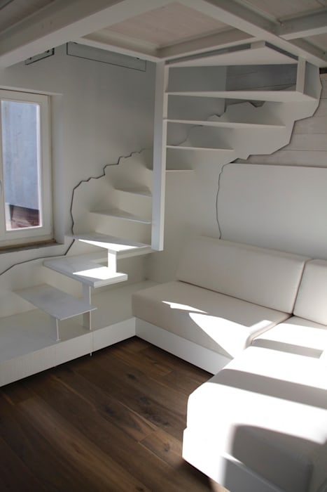 Couloir et hall d'entrée de style  par Mangodesign
