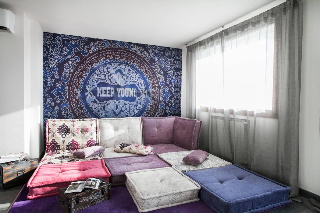 Salones de estilo mediterráneo de Alessandro Corina Interior Designer Mediterráneo